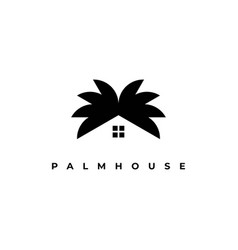 palm house logo design template vector image
