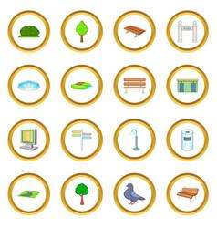 Park icons circle vector