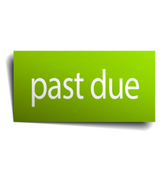 Past due square paper sign isolated on white vector
