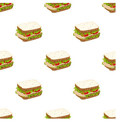 pattern with sandwich vector image