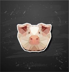 Pig in the style of origami vector