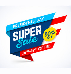 Presidents day super sale banner design template vector