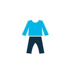 Pyjamas icon colored symbol premium quality vector