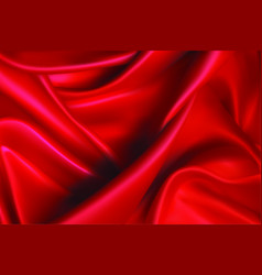 Red fabric background vector
