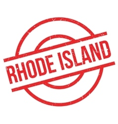 Rhode Island rubber stamp vector image