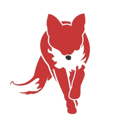 Running Fox Icon vector image