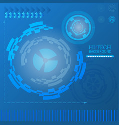 sci-fi futuristic user interface abstract vector image