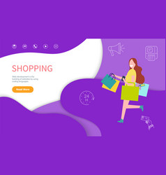 shopping development and coding laguages vector image