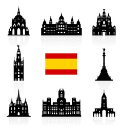 Spain Travel Landmarks Symbol vector