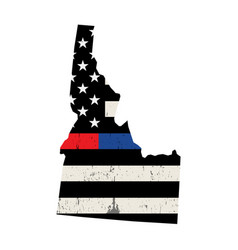 state idaho police and firefighter support flag vector image