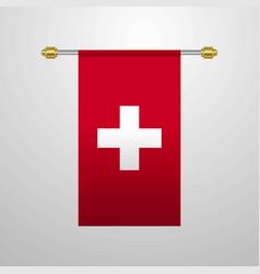 Switzerland hanging flag vector