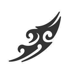 Tattoo image glyph icon vector