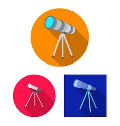 Telescope and binoculars vector