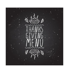 Thanksgiving menu - typographic element vector