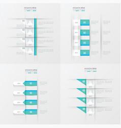 timeline design 4 item blue gradient color vector image