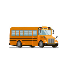 Yellow school bus transportation of students and vector