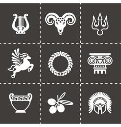 Greece icon set vector image vector image