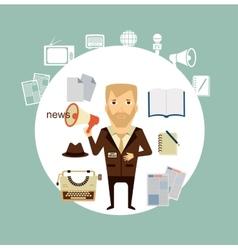 journalist says news speaker vector image vector image