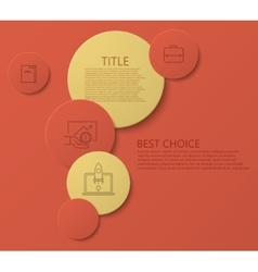 Modern circle technology infographic vector