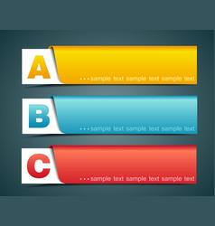 Options banner vector