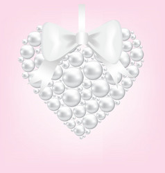 pearl heart vector image vector image