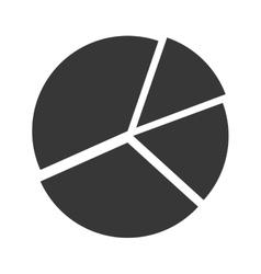 pie chart graphic vector image