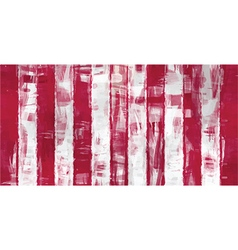 red white stripes painting vector image vector image