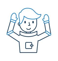 Astronaut comic character icon vector