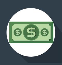 bills dollars money icon vector image