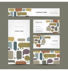 Business cards collection with infographic frames vector image