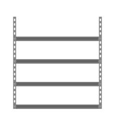 Empty metallic storage shelves vector image