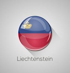 European flags set - Liechtenstein vector image vector image