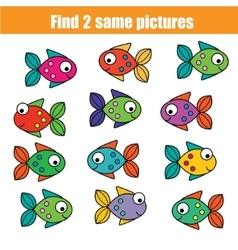 Find the same pictures children educational game vector image