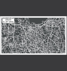jakarta indonesia city map in retro style outline vector image vector image