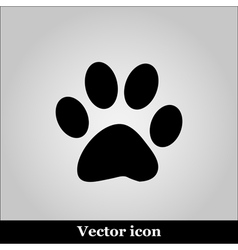Paw Print on grey background vector image