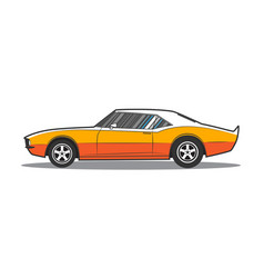american muscle car side view vector image vector image