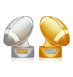 football trophies vector image