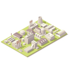 Isometric factory buildings vector image vector image