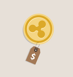 Ripple coin price value of crypto-urrency in vector