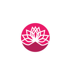 stylized lotus flower icon vector image