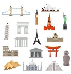 architecture monument or landmark icon vector image vector image