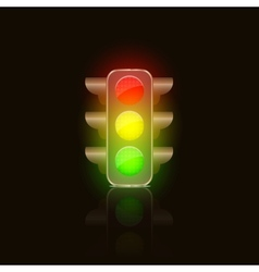 Bright Traffic Lamps vector image vector image