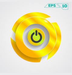 Circle gold design vector