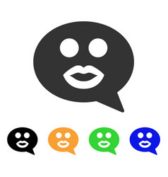 kiss smiley message icon vector image