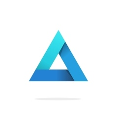 Triangle logo with strict corners isolated vector image