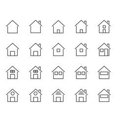 20 home and house icons set living of people vector image