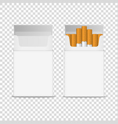 3d realistic opened clear blank empty and vector