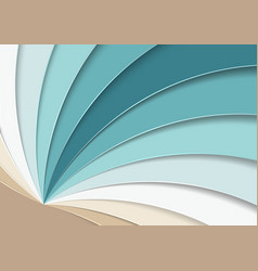 abstract background with paper curves in layers vector image