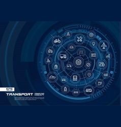 Abstract transportation background digital vector