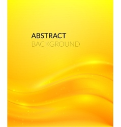 Abstract yellow background with smooth lines vector image